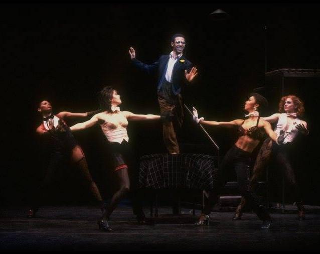 "Alde Lewis, Jr. and Stephanie Pope, Kim Darwin, Amelia Marshall, Cady Huffman ~ Broadway musical ""Big Deal."" (New York) PHOTO by Martha Swope"
