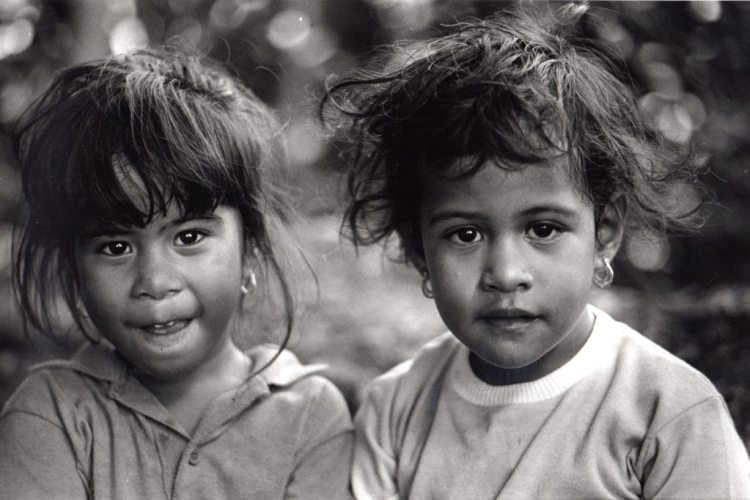 Frank Espada-Two Children in Guam
