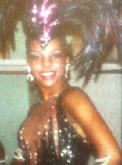 Las Vegas wearing a Bob Mackie design for the finale of the showJubilee which is STILL running.