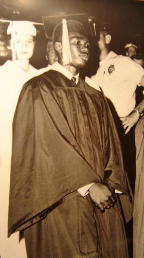 Ernest Green on his graduation day