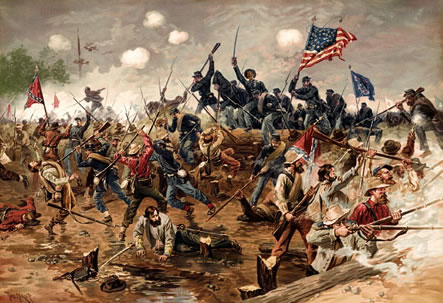 """This Day in History: Apr 12, 1861: The Civil War begins  The bloodiest four years in American history begin when Confederate shore batteries under General P.G.T. Beauregard open fire on Union-held Fort Sumter in South Carolina's Charleston Bay. During the next 34 hours, 50 Confederate guns and mortars launched more than 4,000 rounds at the poorly supplied fort. On April 13, U.S. Major Robert Anderson surrendered the fort. Two days later, U.S. President Abraham Lincoln issued a proclamation calling for 75,000 volunteer soldiers to quell the Southern """"insurrection."""""""