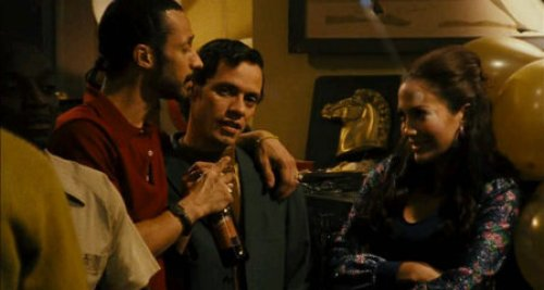 "Antone with Marc Anthony and Jennifer Lopez in ""El Cantante""."