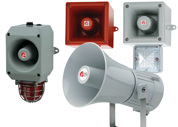 Appello voice annunciators are available in a variety of sizes and outputs. Image courtesy of E2S