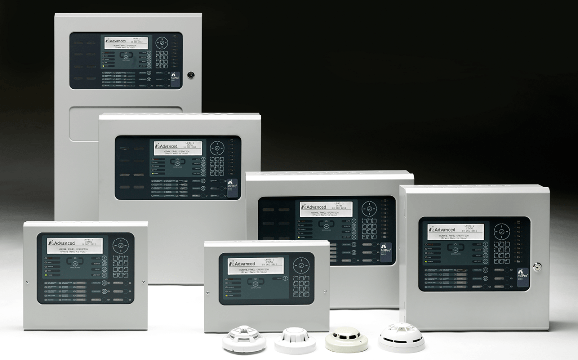 Examples of the MX Pro fire panel ranges from Advanced.