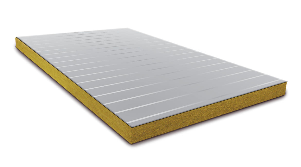 SWPs are made out of two outer metal sheets with a stabilizing core of insulation sandwiched between them.
