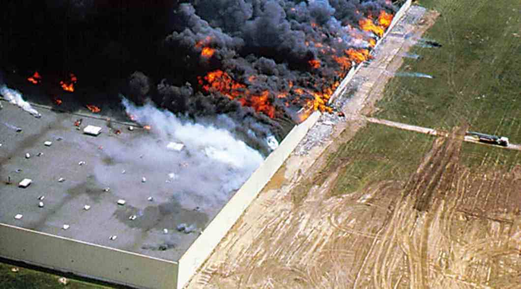 Figure 2: When things go wrong. Fire is fast and devastating. Certified building envelope products help to prevent disasters.
