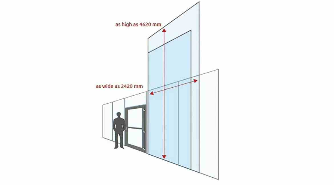 Large-size fire-resistant glass is POLFLAM's hallmark.