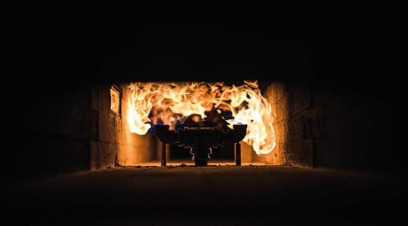 Gas Burners Deliver 1.4 m Test Flame.