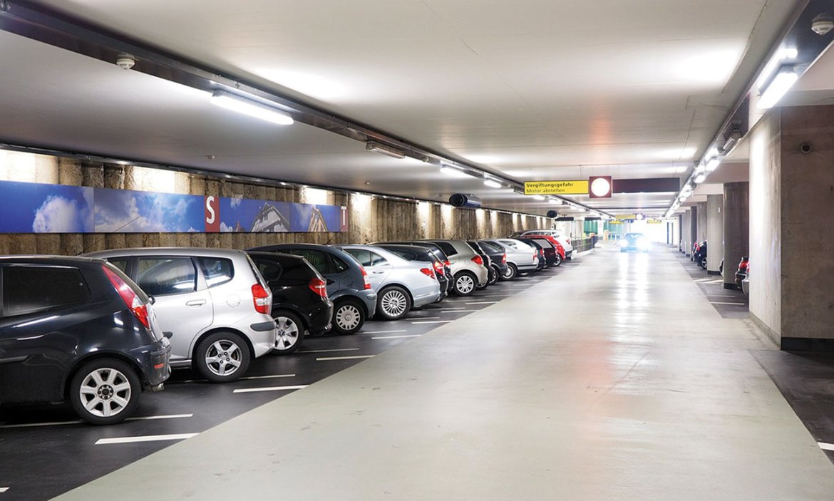 In modern parking structures, the space afforded to each vehicle has been reduced.