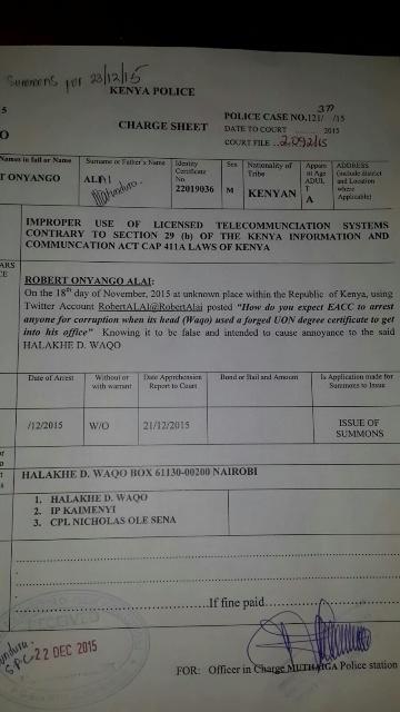 Alai charge sheet