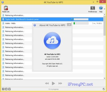 4K YouTube to MP3 4.3.1.4540 Crack + Activation Key Free Download [Win/Mac]