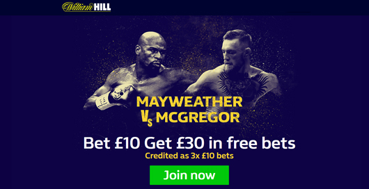 William Hill Floyd Mayweather vs Conor Mcgregor