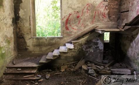 staircase derelict mansion