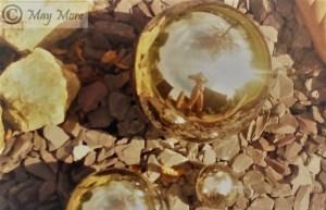 silver spheres