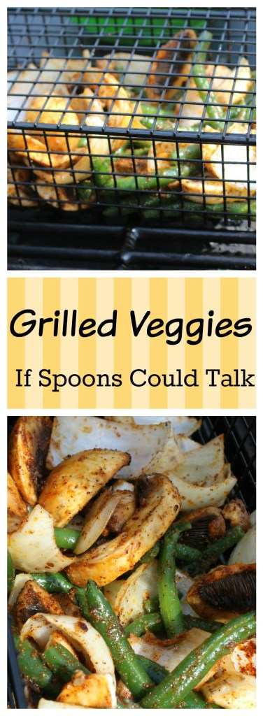 How to grill veggies in a grill basket. Use your favorite combination of veggies.