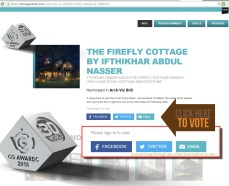https://thecgawards.com/vote/arch-viz-still/the-firefly-cottage-by-ifthikhar/ Hearty thanks for all those who voted! Nominated for the best #ArchViz still in #CgAwards 2015!! Now its your turn, kindly vote for me!! :) Few days left for voting! #3dsMax #Vray (The CG Awards is a celebration of the most amazing CG art and technology that has been created over the past year in the world of animation, VFX and computer hardware.)