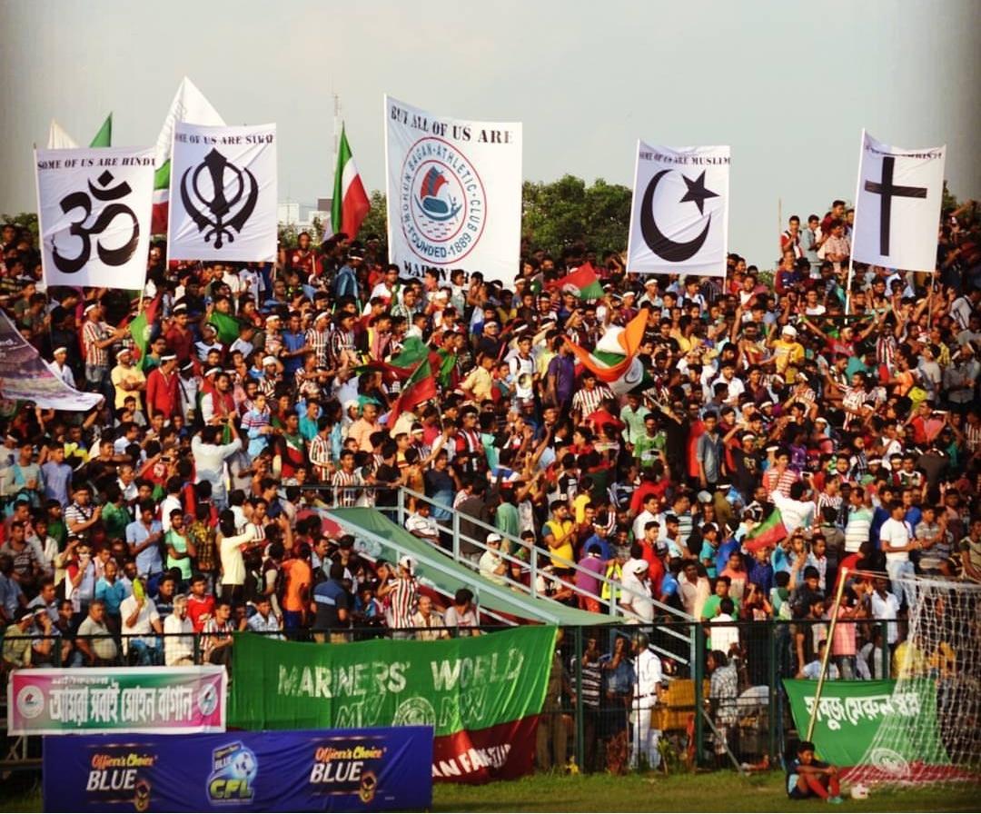 Kolkata Derby- ISL's First mohun bagan ground mariners base camp tifo 1