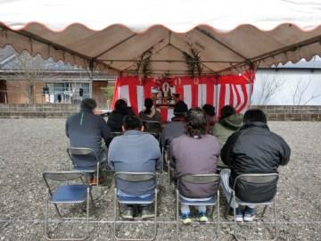 令和2年2月17日 S様邸(大岩田町~OMX搭載&長期優良住宅の家~地域グリーン化事業)にて地鎮祭を開催いたしました♪