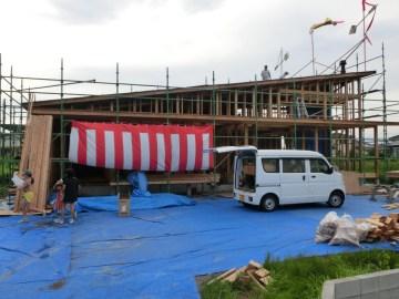 Mさま邸(五十町の家)R2年6月28日 上棟祭を行いました。