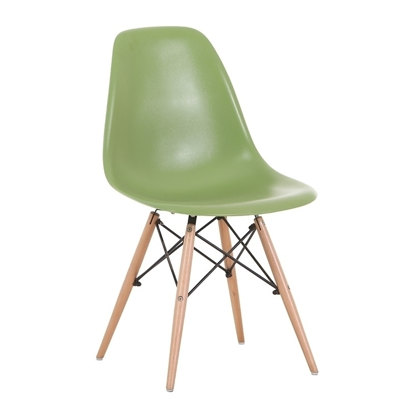 dsw replica eames dining side chair green