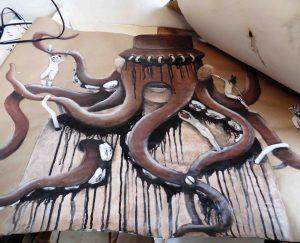 Kat - pieuvre atelier