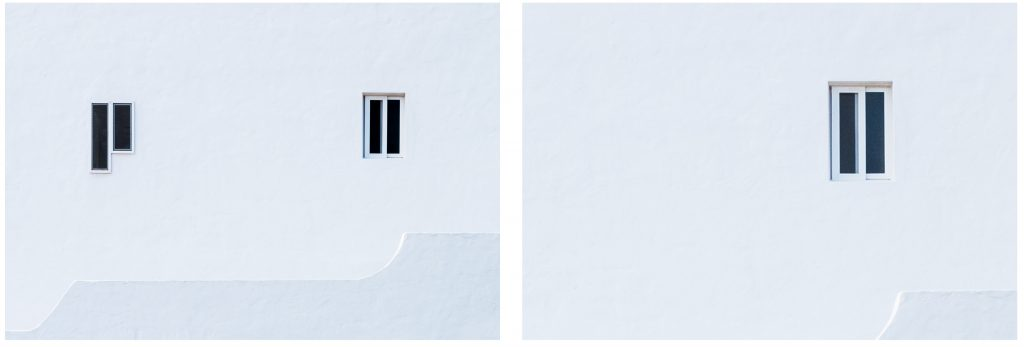 Asymmetrie der Fenster