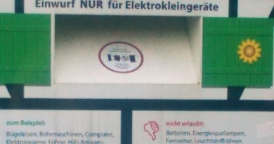 Sammelboxen für Elektroschrott
