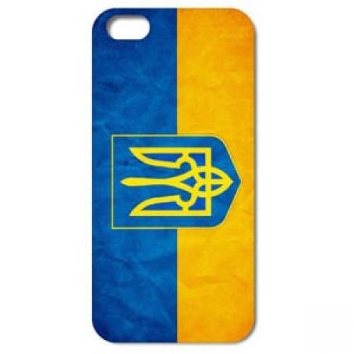 Купить Чехол Пластик Флаг Украины Лаковый для IPhone 4/4s ...