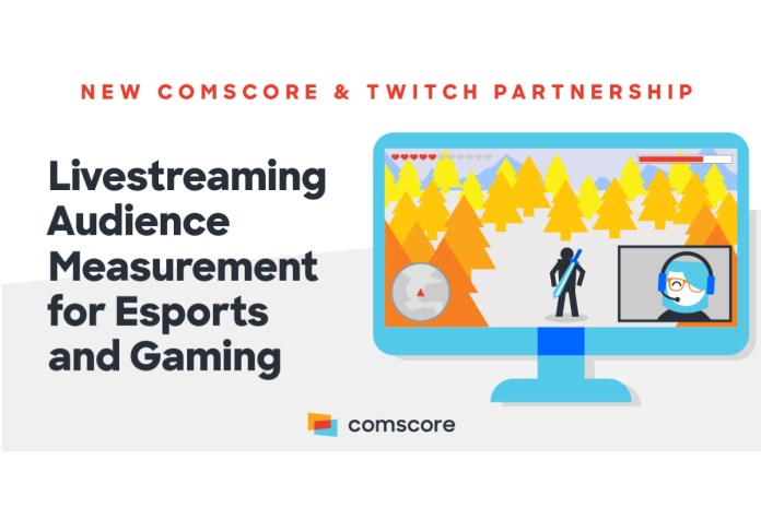 Comscore and Twitch Partner to Deliver Livestreaming Audience Measurement for Esports and Gaming