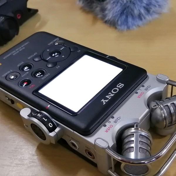 SONY PCM-D100(前)・PCM-D10(奥)
