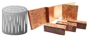 ロータス金属:一方向に伸びた無数の気孔を有する