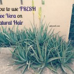 How to use FRESH Aloe Vera for Natural Hair