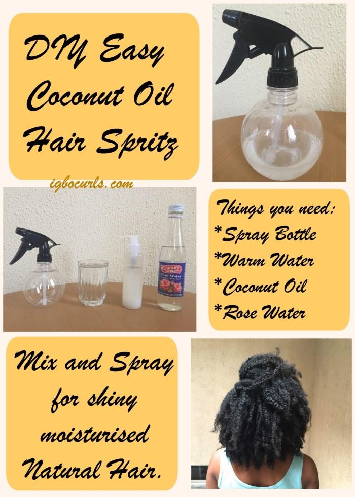diy-coconut-hair-spritz-for-natural-hair DIY Easy Coconut Oil Daily Hair Spritz