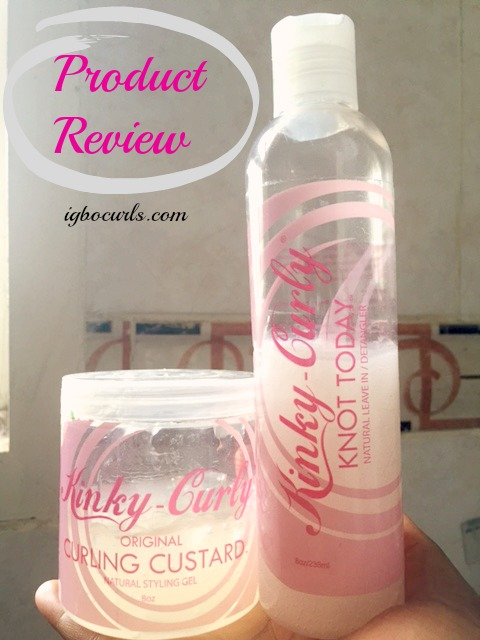 Product Review~ Kinky-Curly Curling Custard & Knot Today