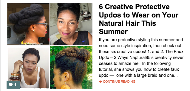 6 Creative Protective Updos to Wear on Your Natural Hair This Summer.