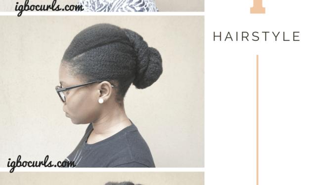 Creative Versatile Updo on Natural Hair