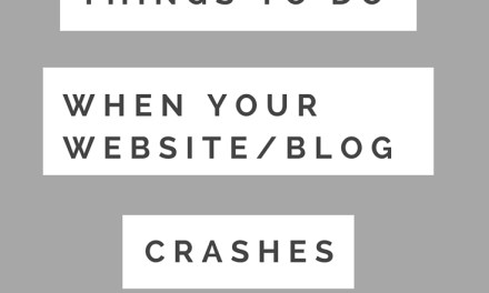 5 Things To Do When Your Website/Blog Crashes