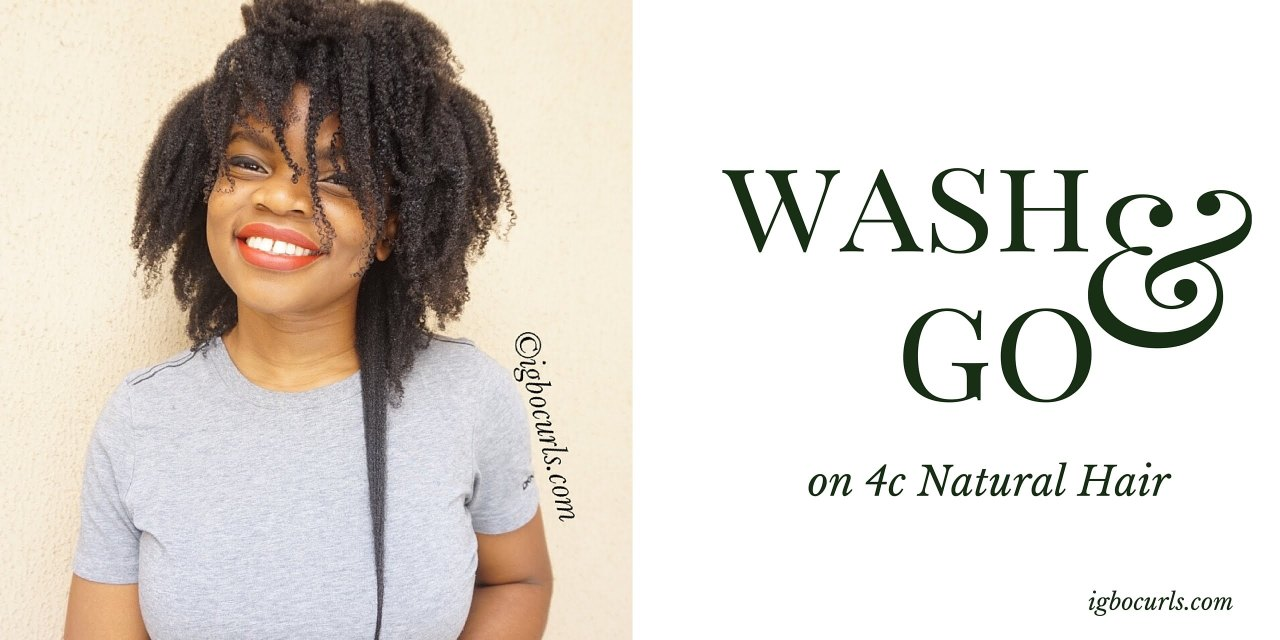 Wash & Go on 4c Natural Hair Video
