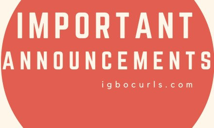 IMPORTANT ANNOUNCEMENTS