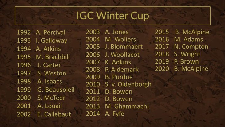 IGC Winter Cup
