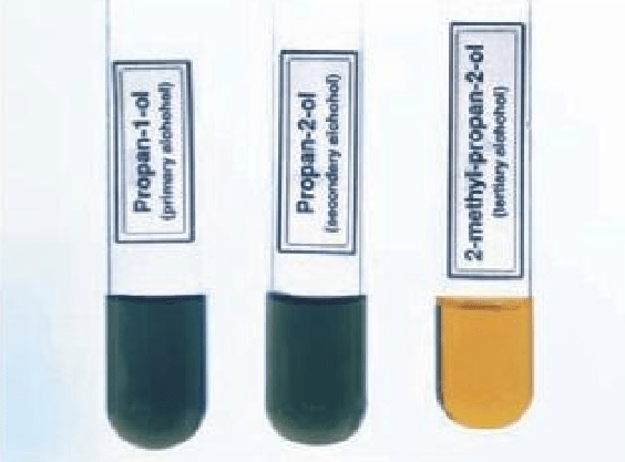 test for alcohols