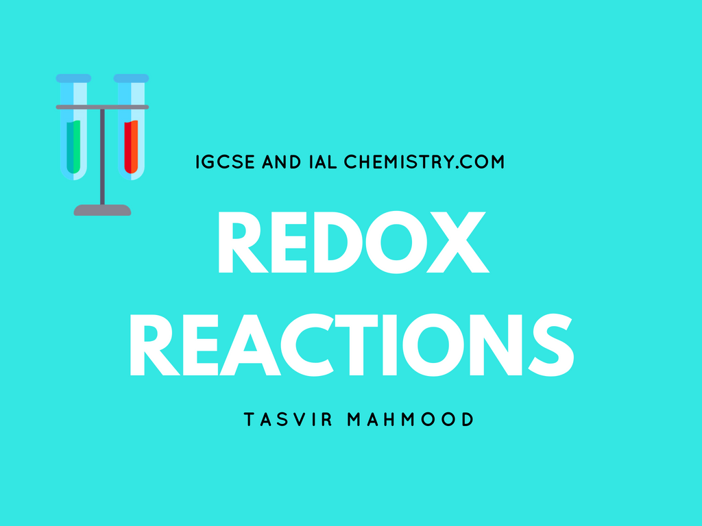 Ial Redox Reactions In Chemistry Notes