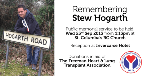Remembering Stew Hogarth banner