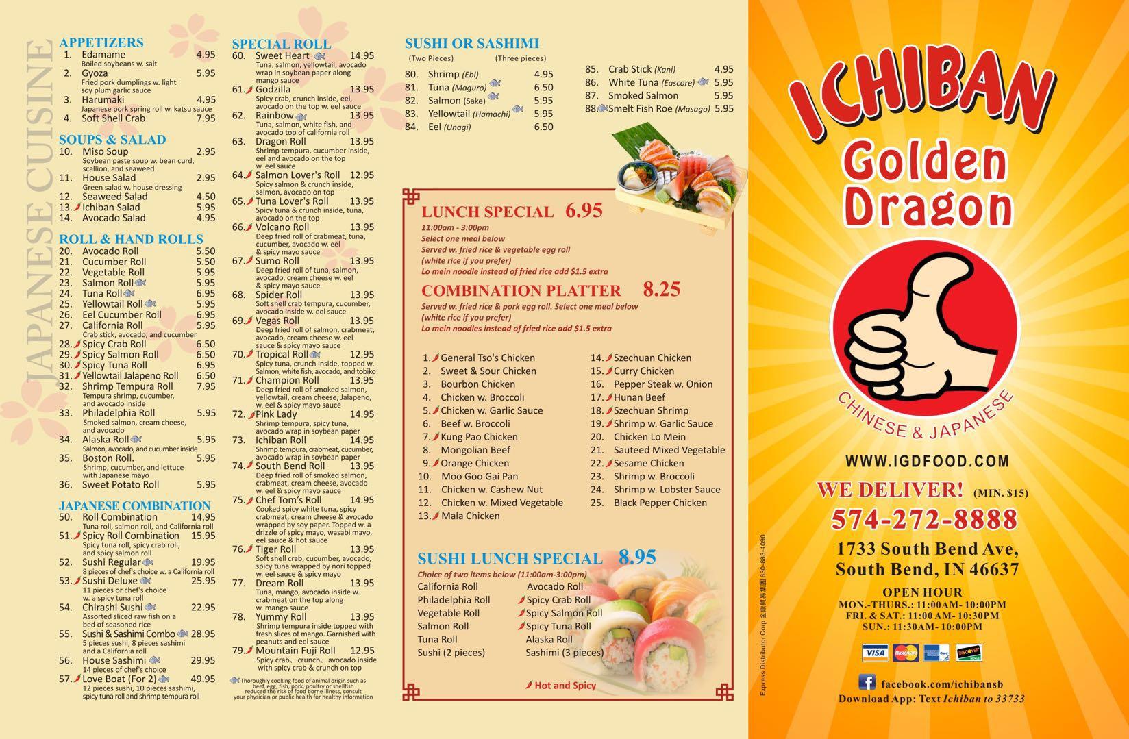 Golden dragon menu south bend benadryl and steroids