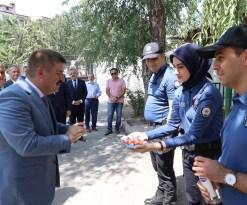 Vali Sarıibrahim Kurban Bayramı ziyaretlerinde bulundu