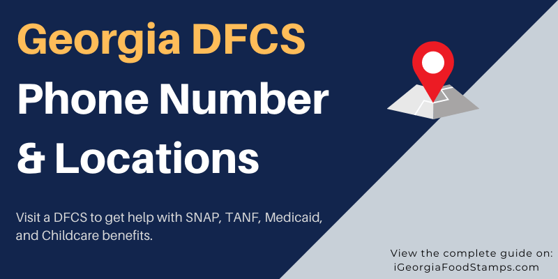 Georgia DFCS Phone Number and Locations