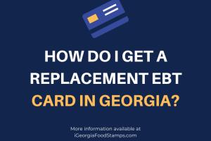 Replacement Georgia EBT Card