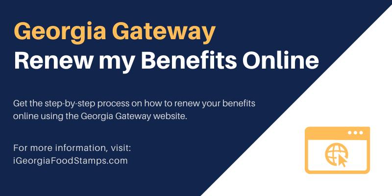 Georgia Gateway Renew my Benefits Online