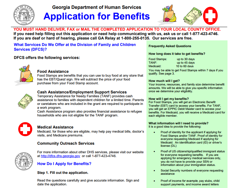 How To Apply For Food Stamps Online In Ga