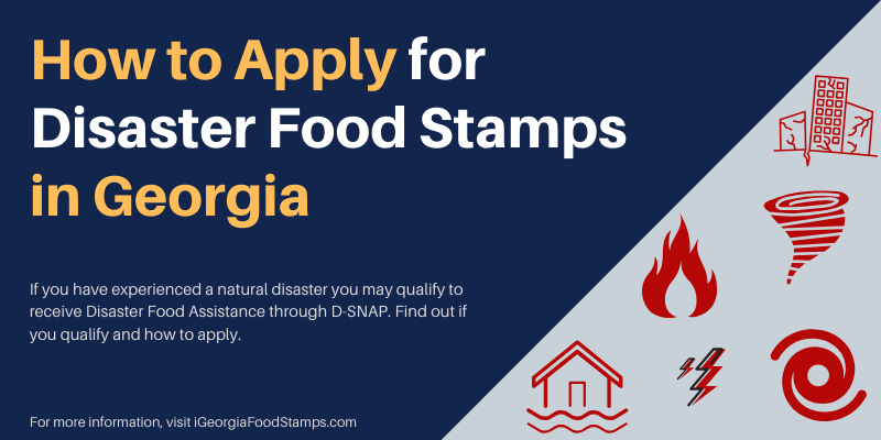 How to Apply for Disaster Food Stamps in Georgia